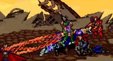 ¡Genios recrean la gran batalla de Thanos vs Vengadores en 16 bit!