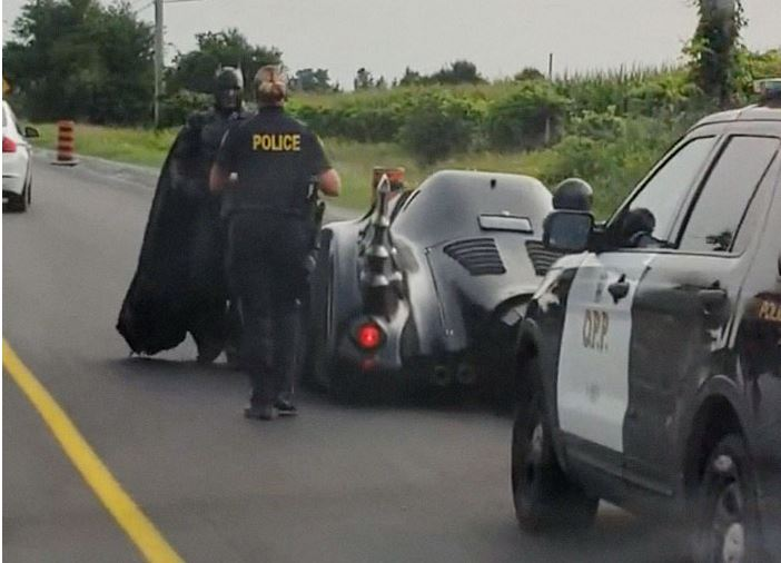 Batman detenido