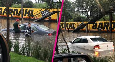 ¡Aguas! Las lluvias hicieron de las suyas e inundaron el sur de la CDMX
