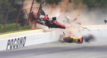 El impactante choque en la Indy Car del que salió vivo Robert Wickens