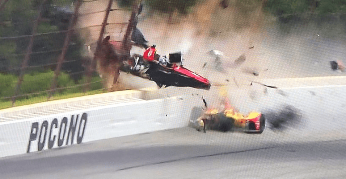 El impactante choque en la Indy Car del que salió vivo Robert Wickens