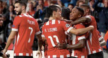 El Chucky Lozano vuelve a marcar gol con el PSV en Champions League