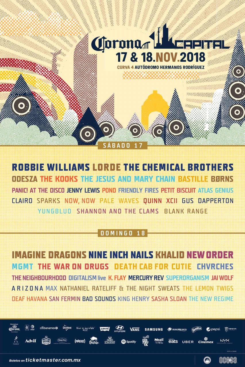 ¡The Jesus and Mary Chain y más se unen al Corona Capital 2018!