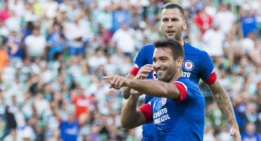 Los goles del empate entre Santos y Cruz Azul, que cumple cinco meses sin derrota