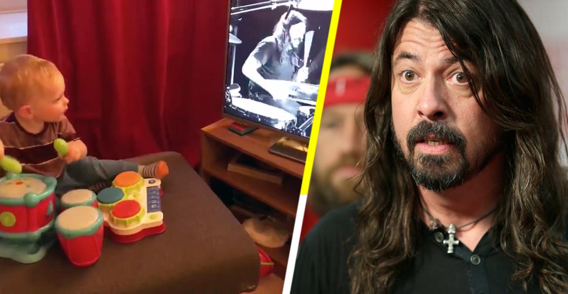 """Un bebé de 17 meses prueba que es """"mejor"""" baterista que Dave Grohl"""