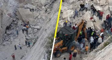 Tres muertos y dos personas atrapadas por derrumbe de mina en Hidalgo