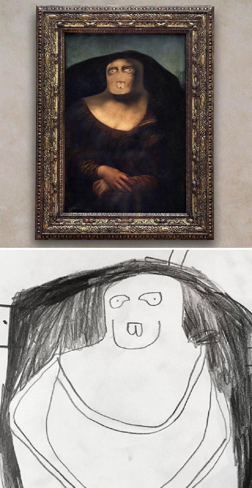 Dibujo de la Mona Lisa