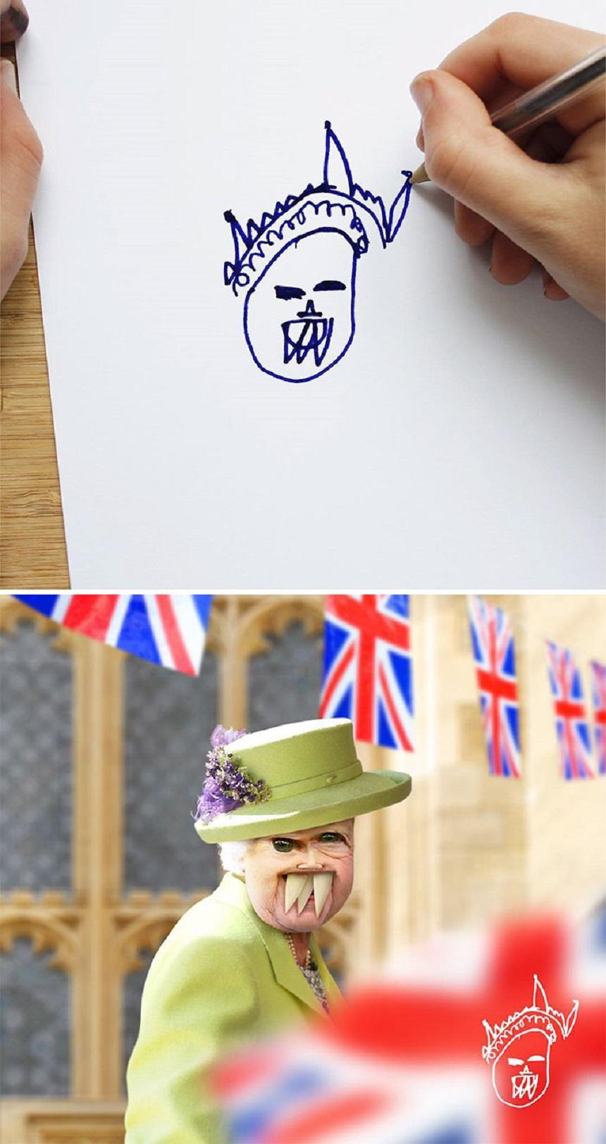 Dibujo de la Reina Isabel