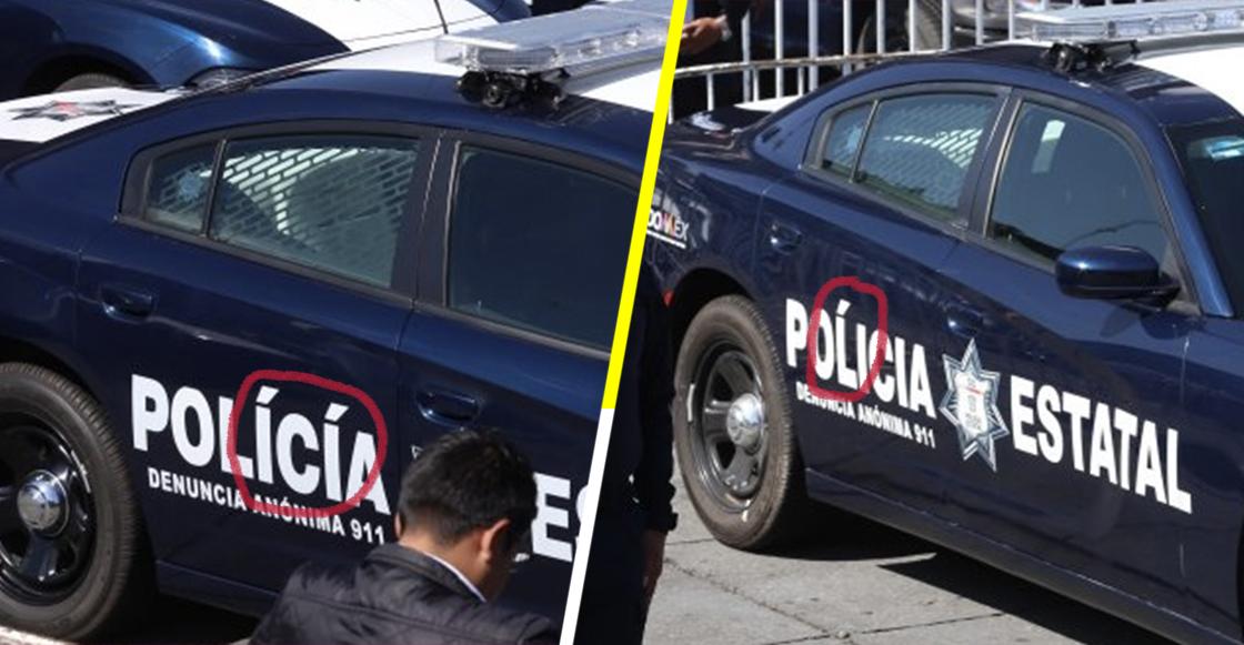 Del Mazo entrega patrullas nuevas... con errores ortográficos