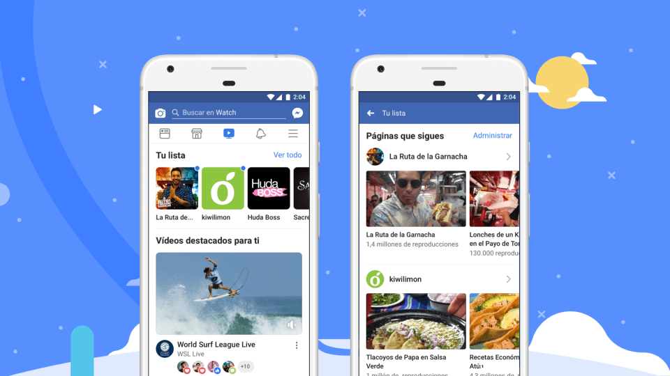 Facebook lanza internacionalmente su plataforma Watch