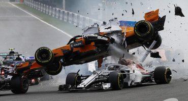 ¡Increíble! Fernando Alonso sufre tremendo choque en el GP de Bélgica