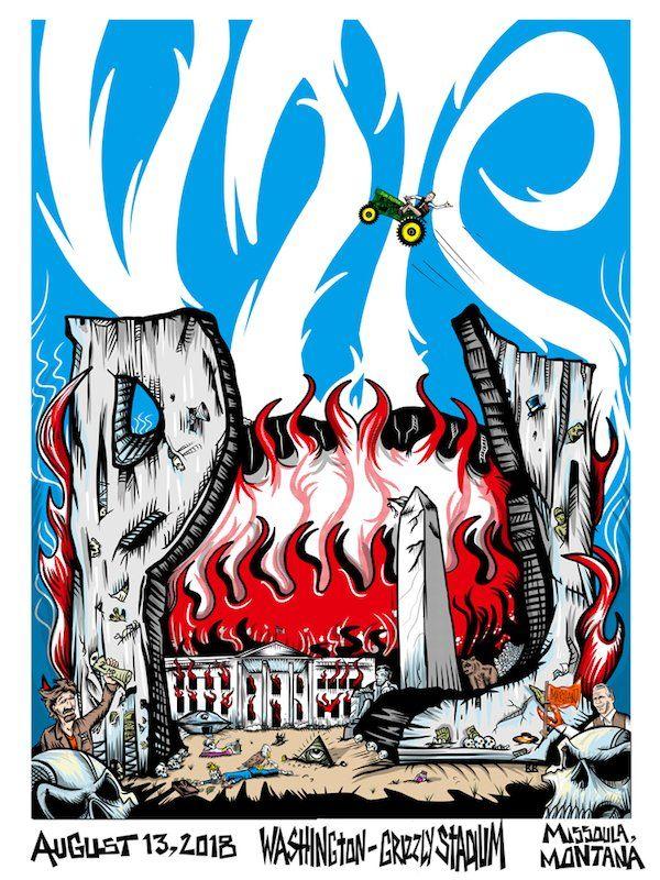 "Pearl Jam anuncia concierto con un póster en el que ""mata"" a Donald Trump"