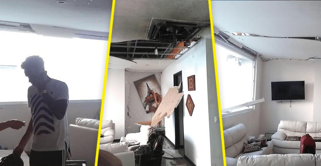 Así quedó el departamento del portero de Veracruz Pedro Gallese tras una explosión