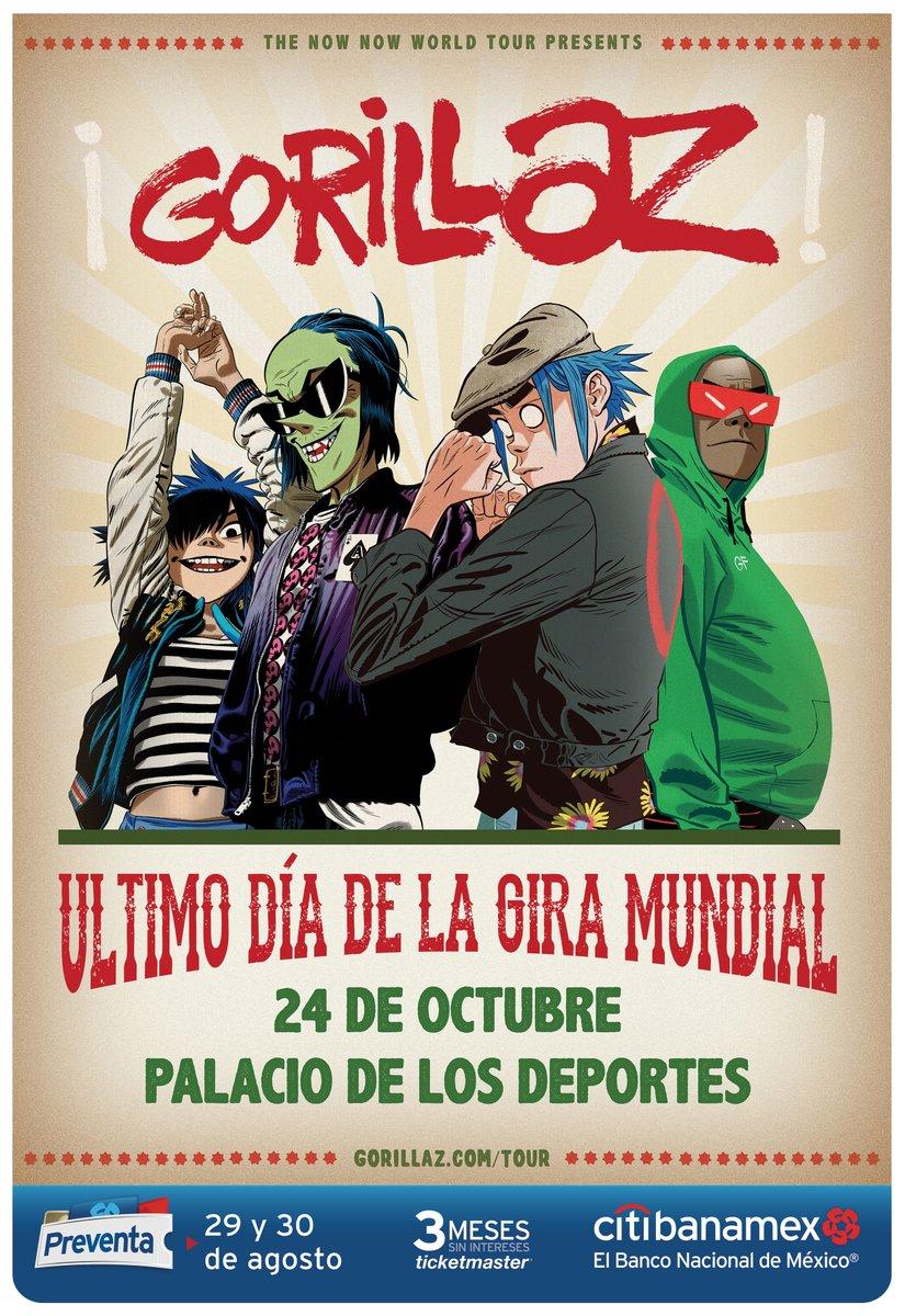 ¡Confirmado! Gorillaz regresa a México y al Palacio de los Deportes