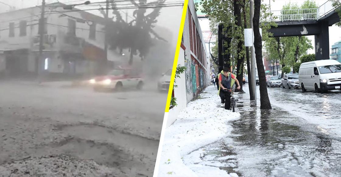 Tremenda granizada cayó en Azcapotzalco y la Miguel Hidalgo, en CDMX