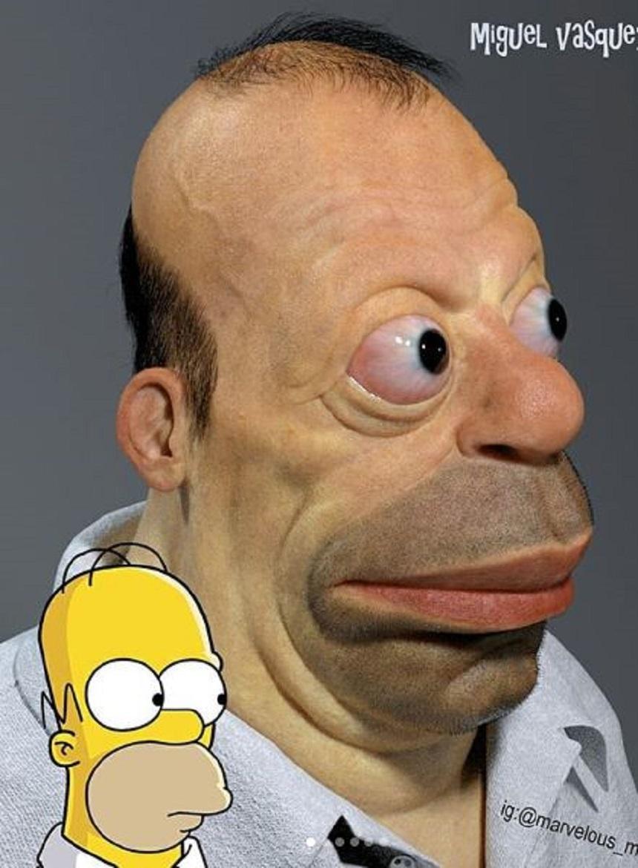 Homero Simpson Realista