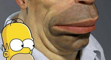 Así se vería Homero Simpson en la vida real