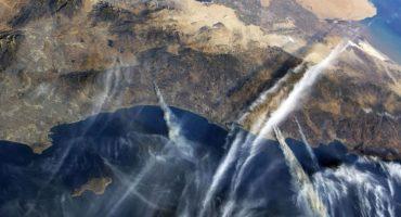 Impresionante: Los incendios de California vistos desde el espacio