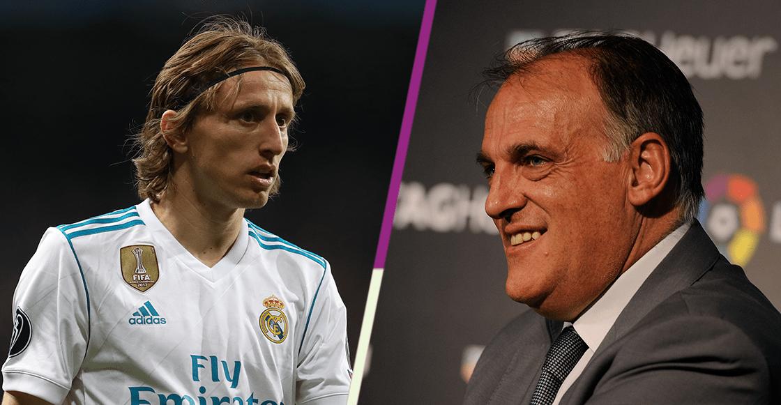 Inter de Milán demandará al presidente de la liga española por el caso Modric