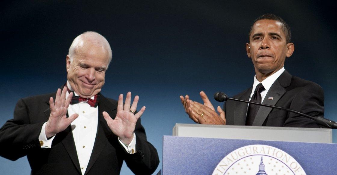 La emotiva despedida de Barack Obama al senador John McCain