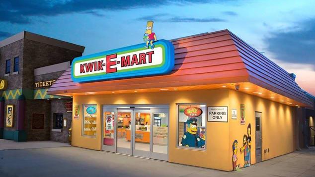 Abren tienda Kwik e mart en Estados Unidos