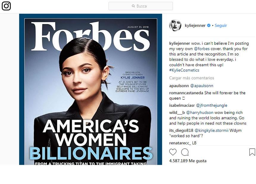 los famosos mejor pagados en Instagram