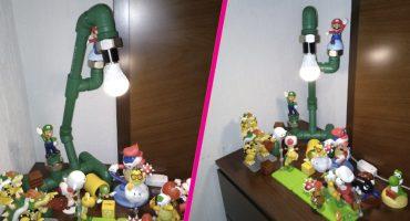 Quería una lámpara de Mario Bros y su papá le fabricó una original ❤️