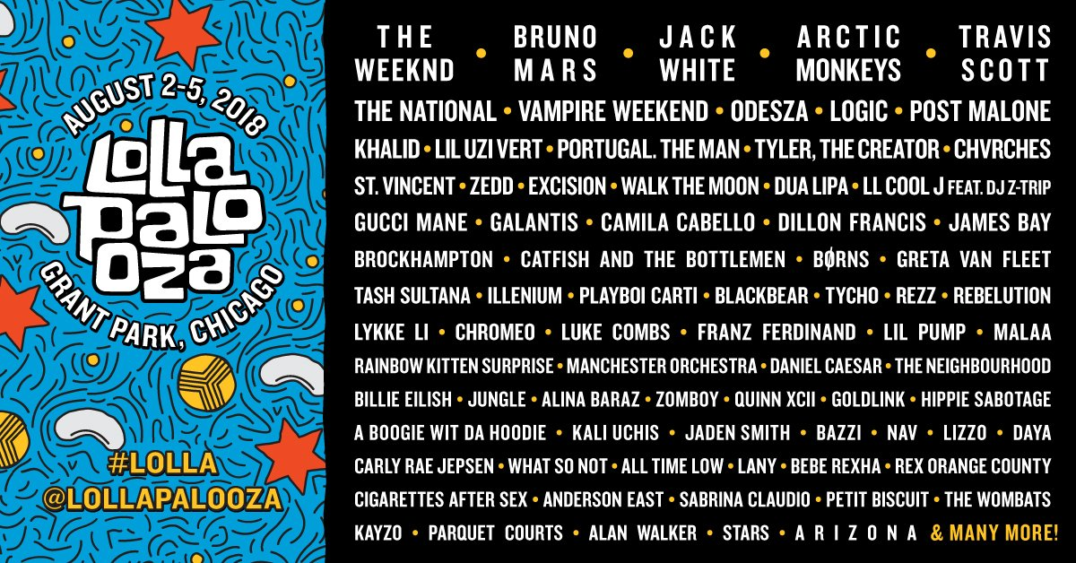 LOS40 emitirá streaming de Lollapalooza Chicago 2018