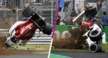 El impactante choque de Marcus Ericsson a 350 kilómetros por hora en F1