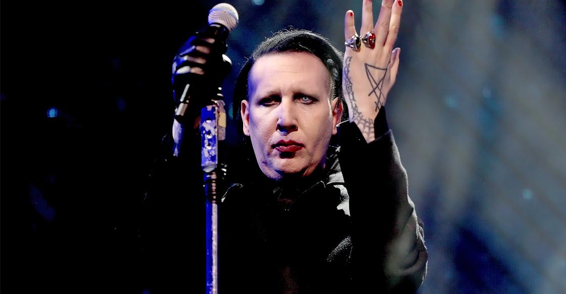 Marilyn Manson se desmayó en pleno concierto por un golpe de calor