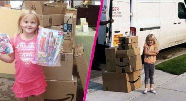 Esta inocente niña gastó 350 dólares en juguetes en Amazon a escondidas 😂
