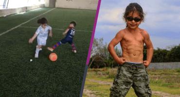 La niña que deslumbra jugando futbol en realidad es un niño gimnasta 