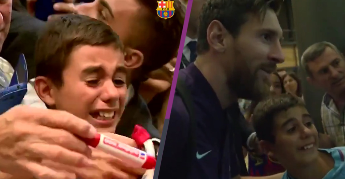 Niño rompe en llanto al conocer a Lionel Messi e Internet explota