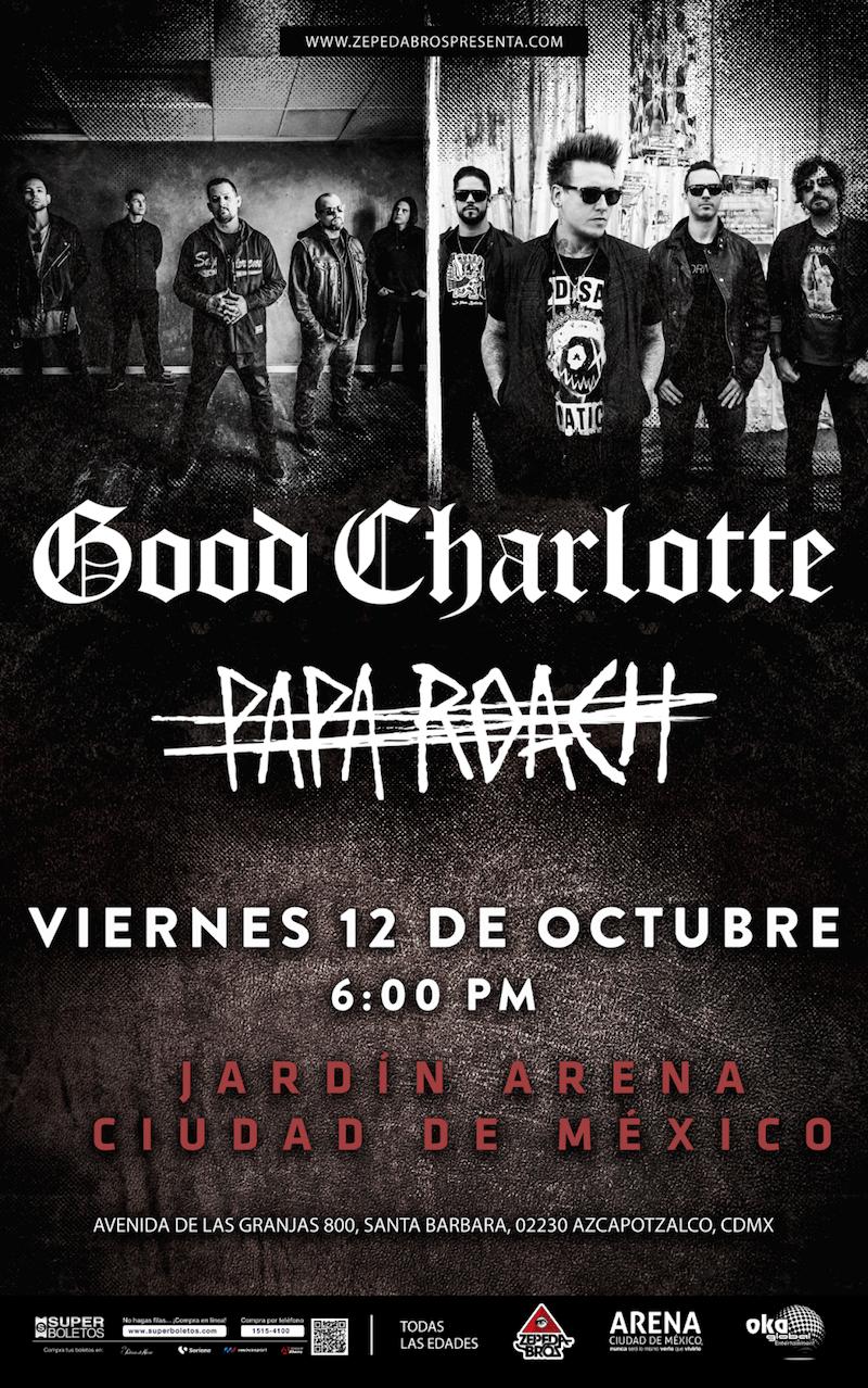 Papa Roach y Good Charlotte vienen a México