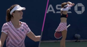 Polémica 'sexista' en el US Open con Alizé Cornet por acomodarse la playera