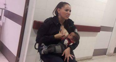 Esta policía amamantó a un bebé hospitalizado aunque no era suyo 👏🏻