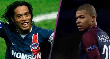 ¡Par de joyas! PSG comparó golazo de Mbappé con uno de Ronaldinho