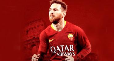 La Roma insiste en el fichaje de Messi con un fotomontaje
