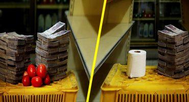 Radiografía: Así se ven los fajos de billetes que pagan los venezolanos a cambio de kilo de alimentos