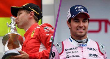 Vettel logra primer lugar y Checo Pérez queda quinto en el GP de Bélgica