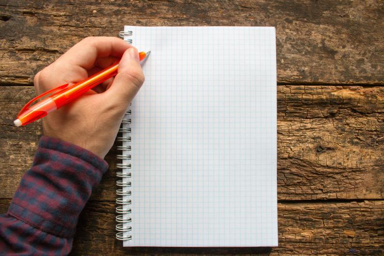 Cuaderno para diestros