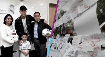 El día que Cristiano Ronaldo cumplió el sueño de Santi, el niño del Rébsamen