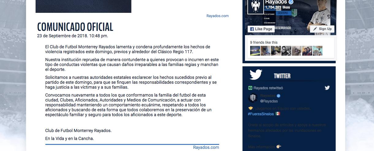 Así se pronunciaron 'El Bronco' y equipos de la Liga MX contra la violencia