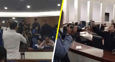 Con amenazas de muerte, diputado del PRI responde a protestas en SLP