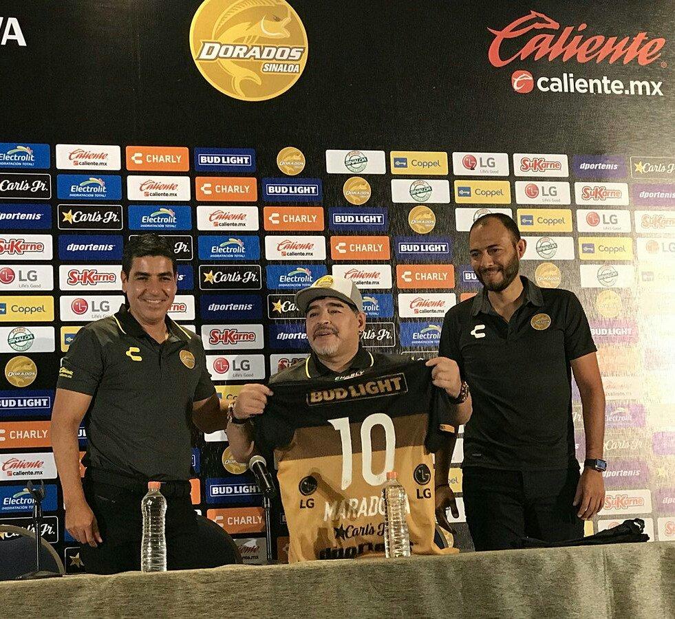 Las 10 mejores frases de Maradona en su presentación con Dorados