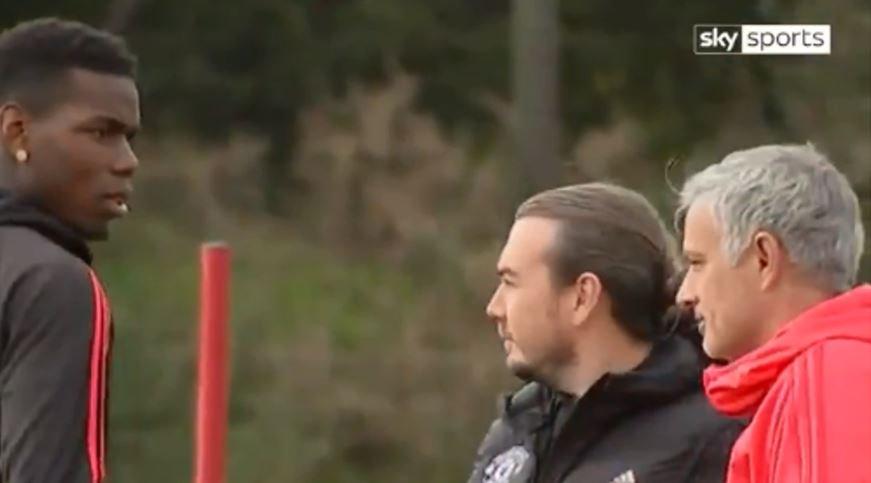 """¡Tensión a tope! Mourinho y Pogba """"se mataron"""" con la mirada"""
