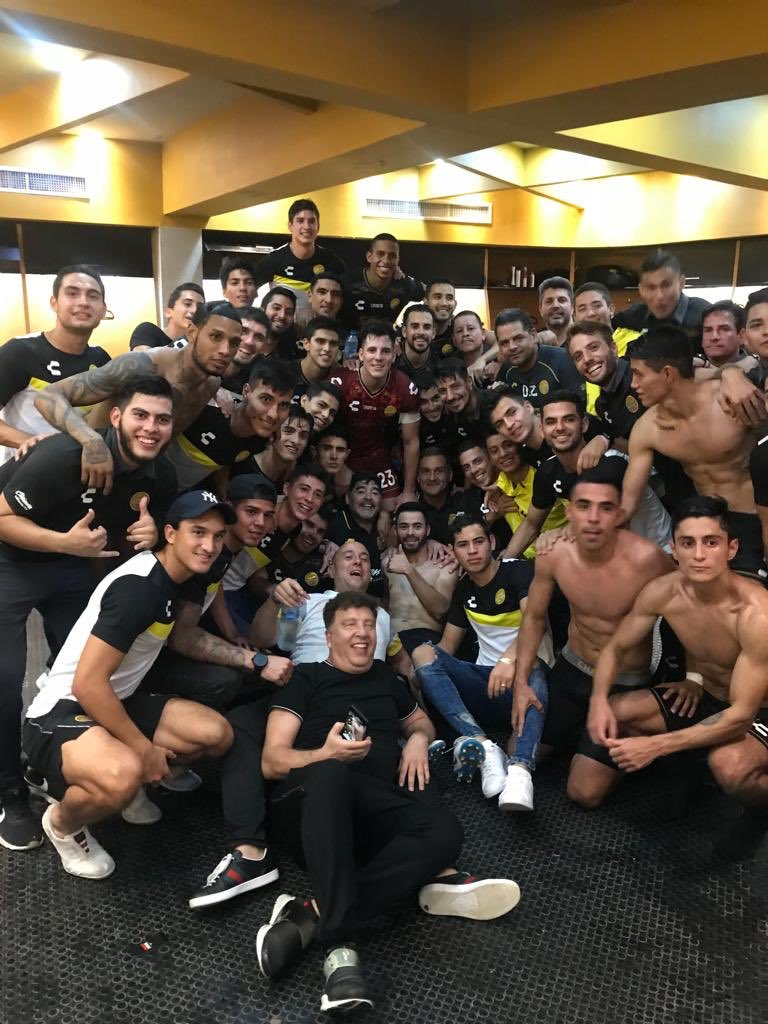 """Así motivó Maradona a sus Dorados: """"cada pelota es de muerte"""""""