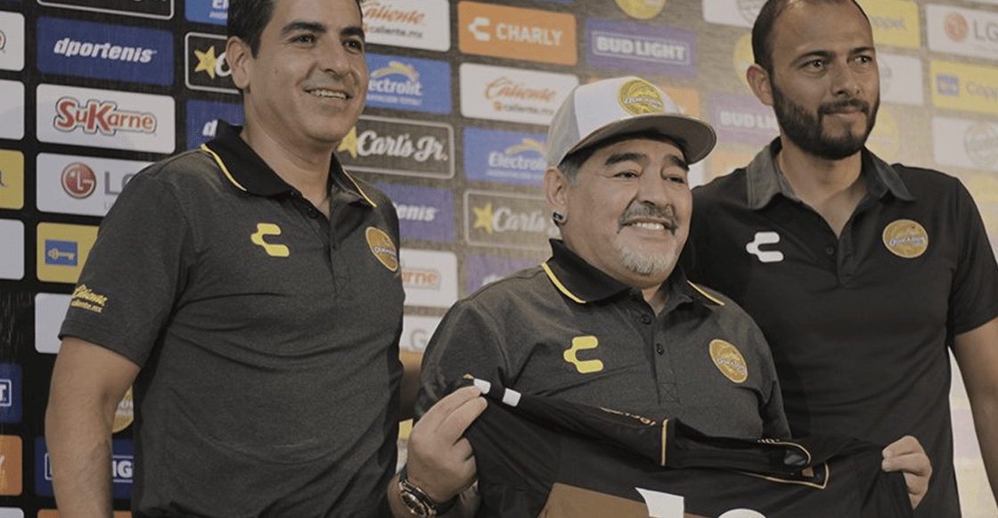 Las mejores imágenes de la presentación de Maradona con Dorados