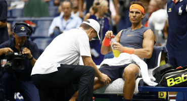 La rodilla elimina a Nadal, Del Potro a la Final del US Open
