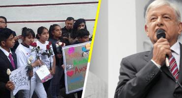'Canto al pie de tu ventana': niños dan serenata a AMLO... para que escuche sus demandas